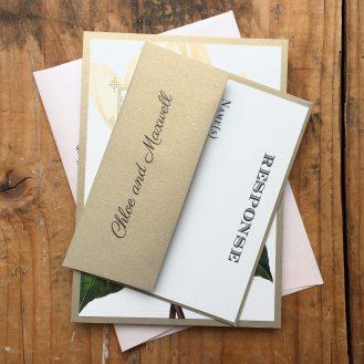 Sweet Magnolia Custom Wedding Invitation by Beacon Lane