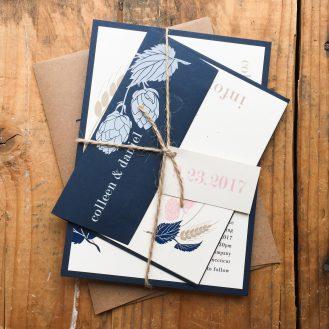 Hops Love Custom Wedding Invitation by Beacon Lane