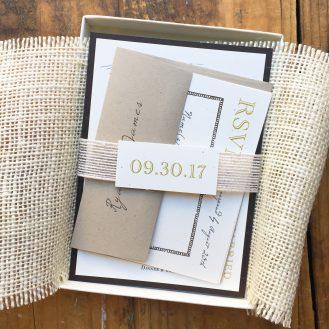 Farm Chic Boxed Wedding Invitations by Beacon Lane