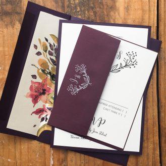 Soft Roses Custom Wedding Invitation by Beacon Lane