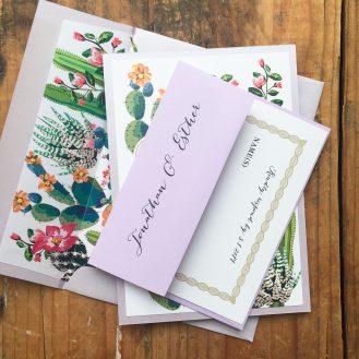 Desert Love Custom Wedding Invitations by Beacon Lane
