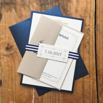 Nautical Bliss Custom Wedding Invitations by Beacon Lane