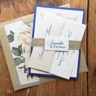 Custom Design Wedding Invitation by Beacon Lane