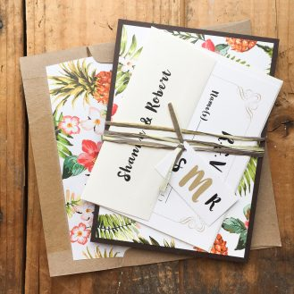 Pineapple Paradise Wedding Invitation by Beacon Lane