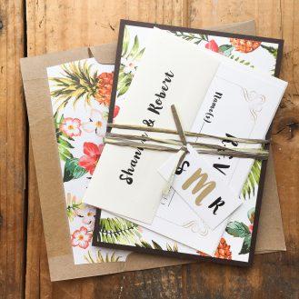 Pineapple Paradise Wedding Invitation by Beacon Lane