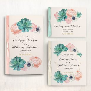Blush Succulent Ceremony Booklet