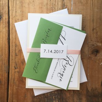 Black Script Custom Wedding Invitation by Beacon Lane