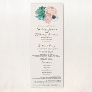 Blush Succulent Flat Ceremony Programs