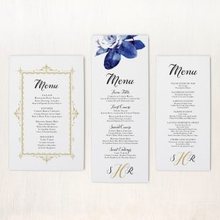 Urban Garden Flat Menu Cards