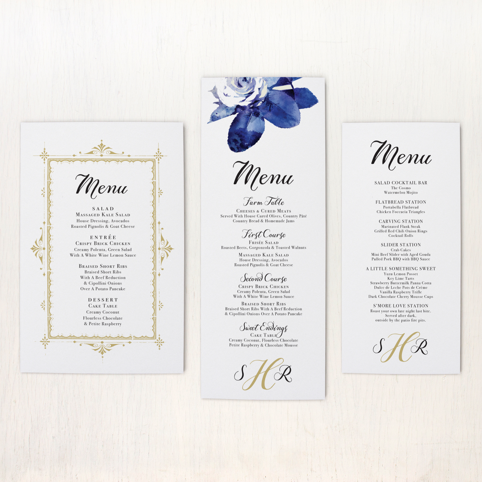 Urban Garden Customizable Flat Simple Wedding Menus | Beacon Lane