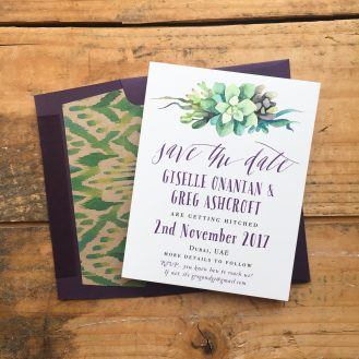 Succulent Script Customizable Save the Date by Beacon Lane