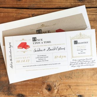 Story Time Customized Baby Shower Invitations by Beacon Lane