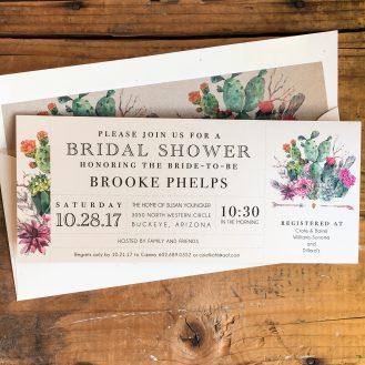 Desert Blooms Custom Bridal Shower Invitation by Beacon Lane