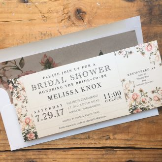 Garden Roses Customized Bridal Shower Invitations by Beacon Lane