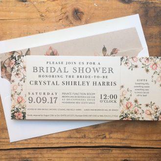 Garden Roses Custom Bridal Shower Invitation by Beacon Lane