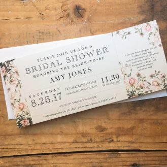 Garden Roses Customized Bridal Shower Invitation by Beacon Lane