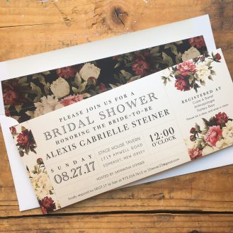 Modern Boho Customized Bridal Shower Invitation by Beacon Lane