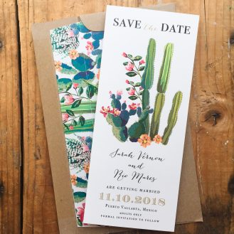 Desert Love Custom Save the Date by Beacon Lane