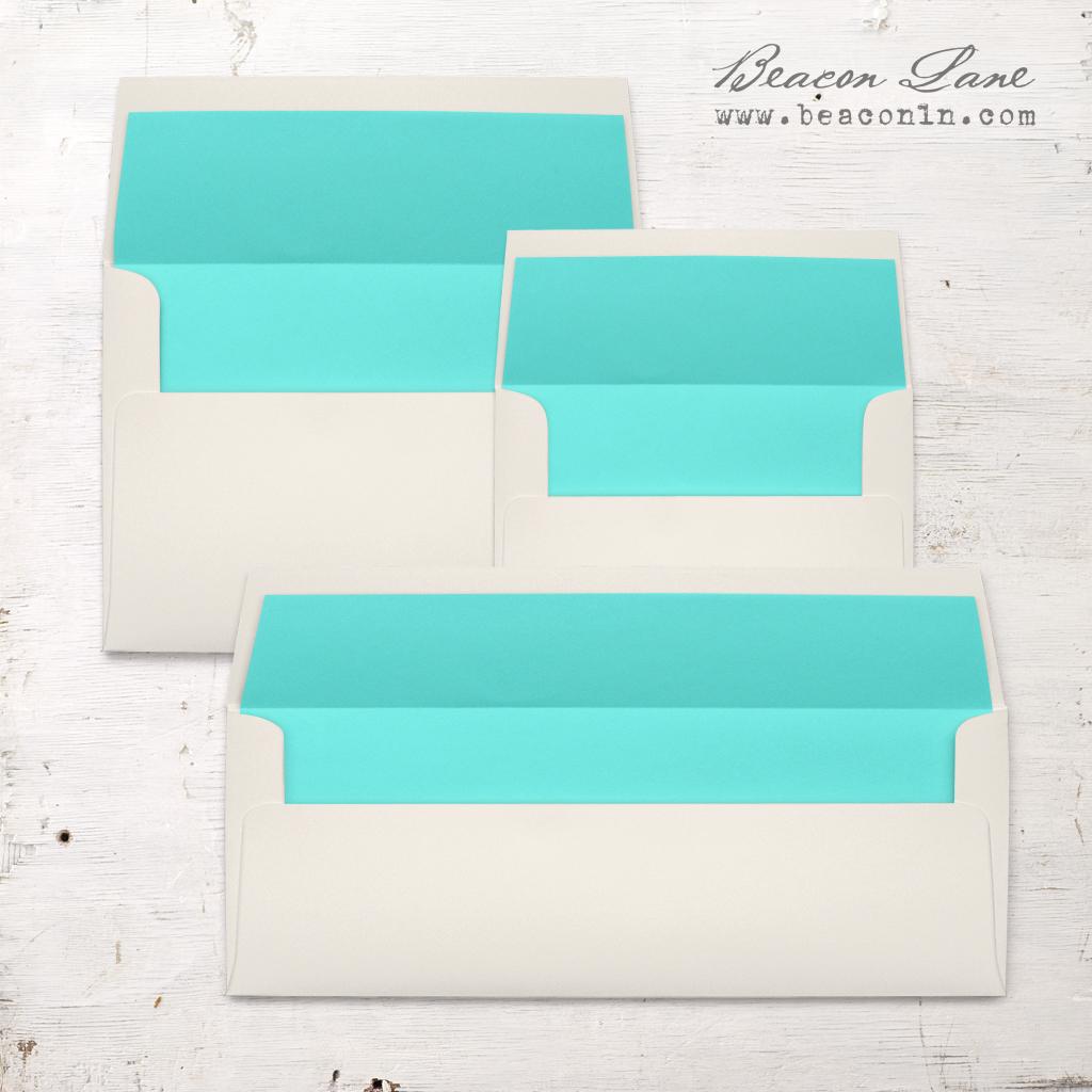 Aqua Solid Envelope Liners