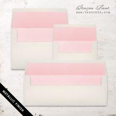 Baby Pink Metallic Envelope Liners