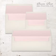 Baby Pink Solid Envelope Liners