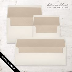 Beige Metallic Envelope Liners