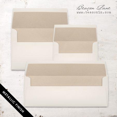 Beige Metallic Envelope Liners