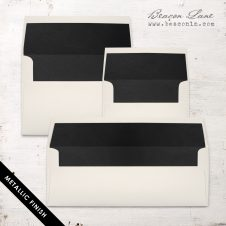 Black Metallic Envelope Liners