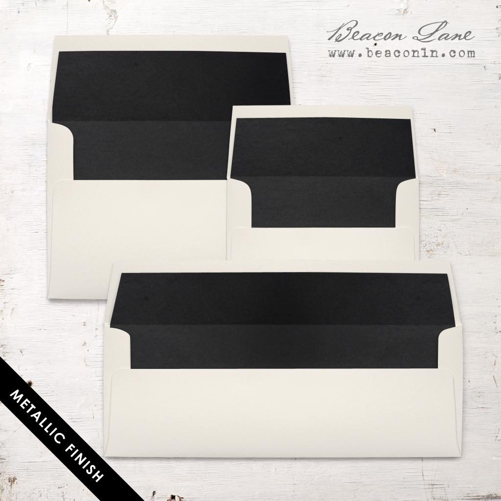 Black Metallic Envelope Liners