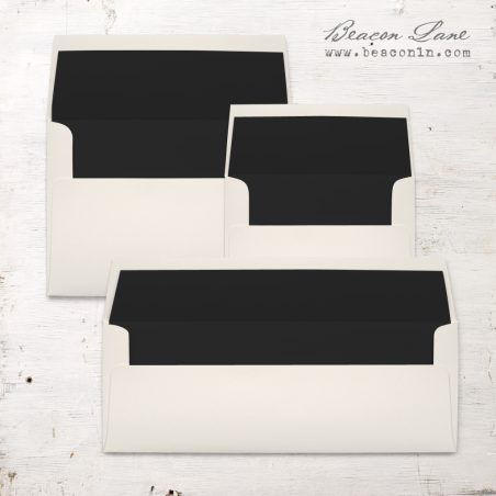 Black Solid Envelope Liners