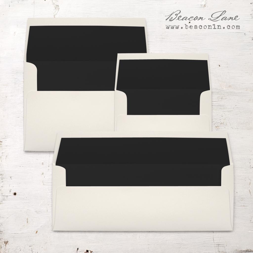 Black Solid Envelope Liners
