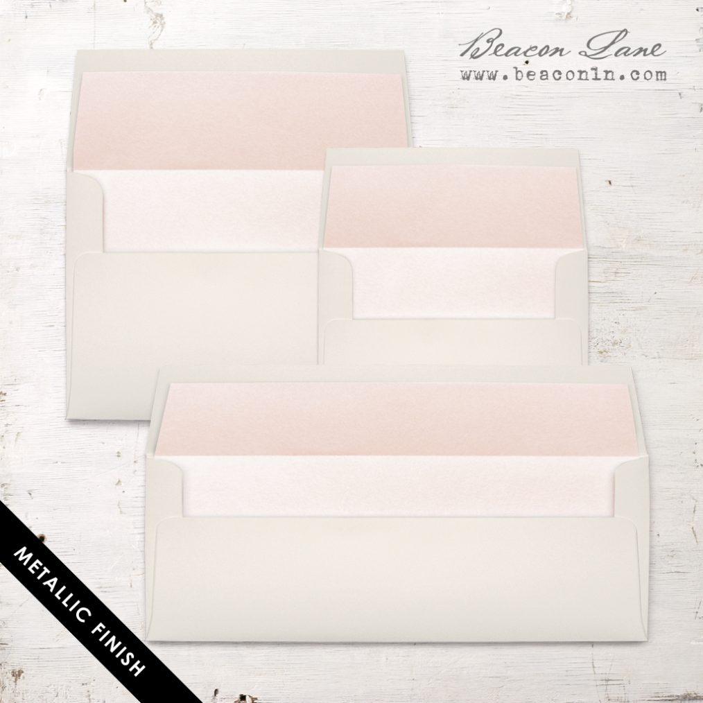 Blush Peach Metallic Envelope Liners