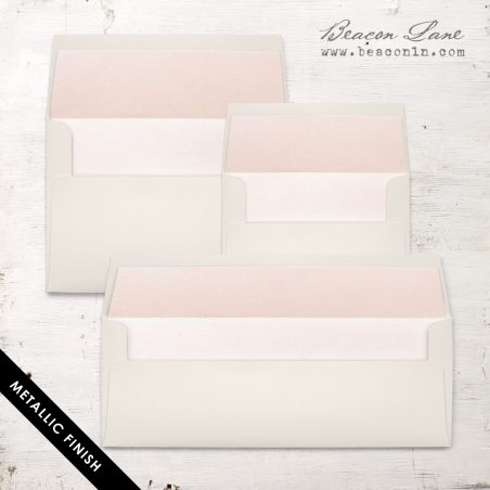Blush Peach Metallic Envelope Liners
