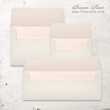 Blush Peach Solid Envelope Liners