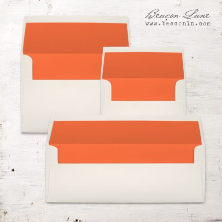 Bright Orange Solid Envelope Liners