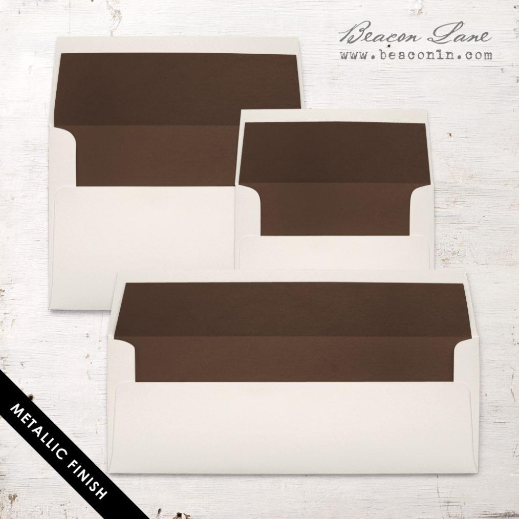 Brown Metallic Envelope Liners