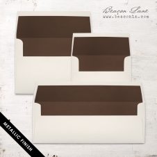 Brown Metallic Envelope Liners