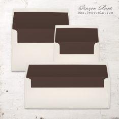 Brown Solid Envelope Liners