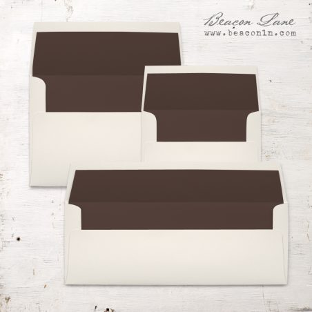 Brown Solid Envelope Liners