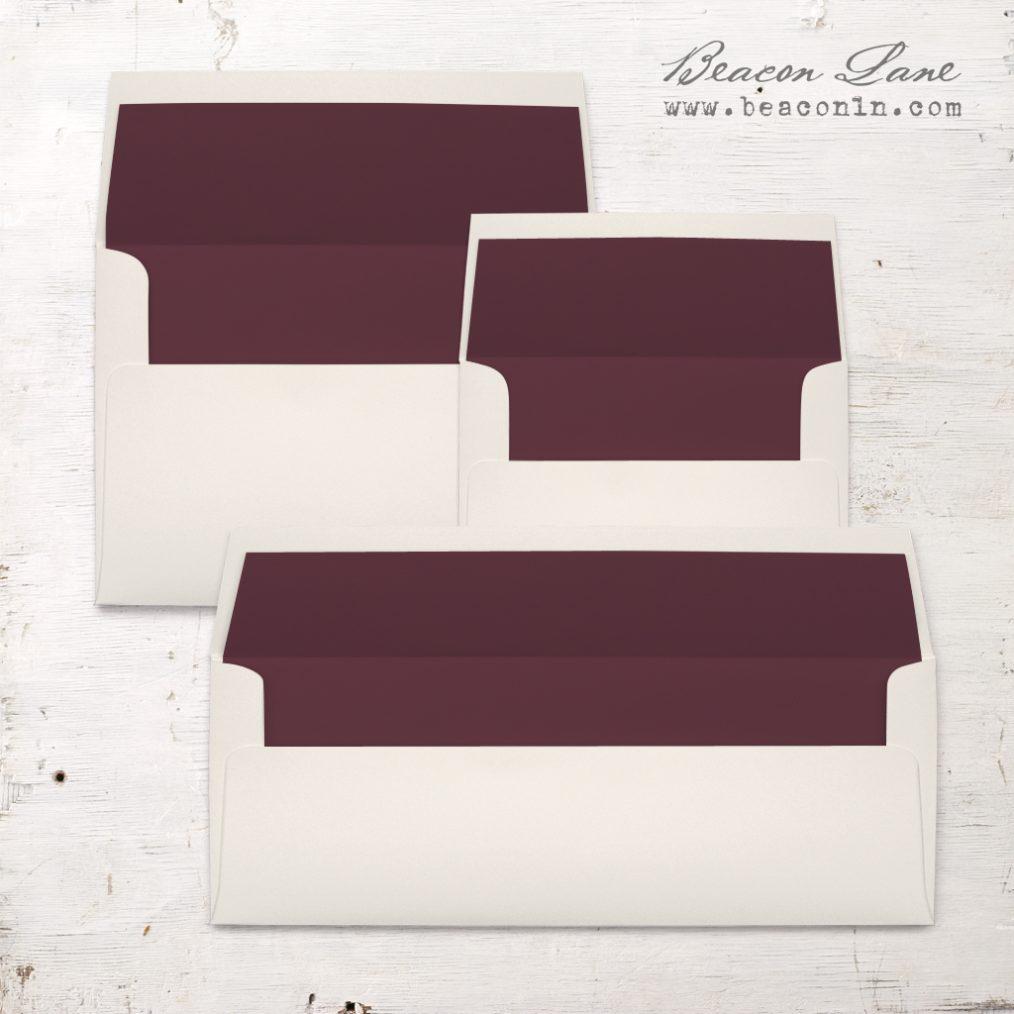 Burgundy Solid Envelope Liners