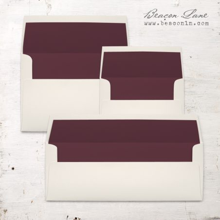 Burgundy Solid Envelope Liners