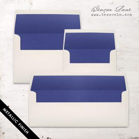 Cobalt Metallic Envelope Liners