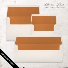 Copper Metallic Envelope Liners