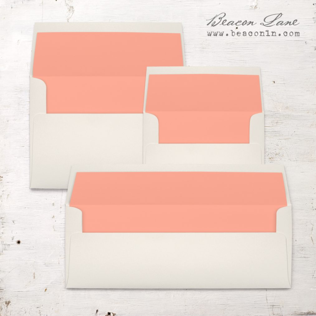 Coral Solid Envelope Liners