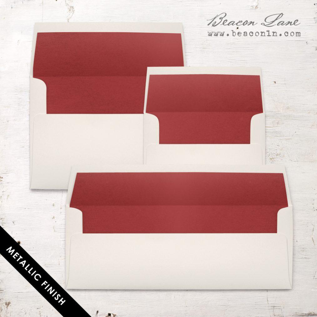 Crimson Metallic Envelope Liners