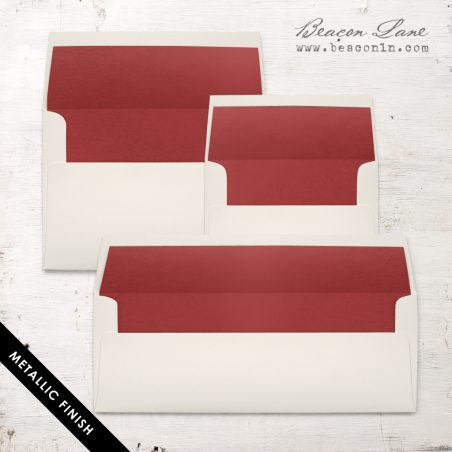 Crimson Metallic Envelope Liners