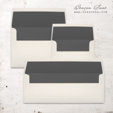 Dark Gray Solid Envelope Liners