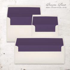 Dark Purple Solid Envelope Liner