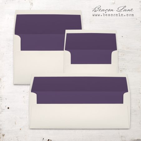 Dark Purple Solid Envelope Liner