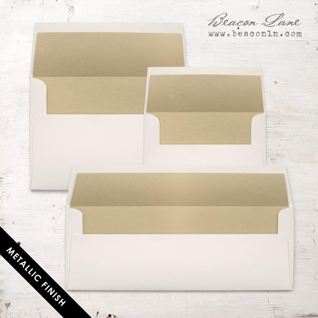 Gold Metallic Envelope Liner